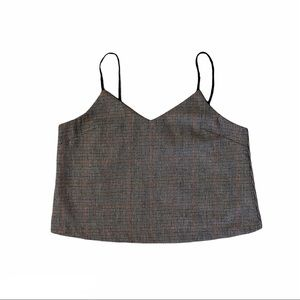 J.O.A Houndstooth Cropped Cami Size S